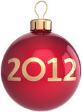 Christmas ball New 2012 Year bauble Royalty Free Stock Photo