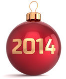Christmas ball New 2014 Year bauble decoration Stock Photo