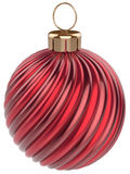 Christmas ball New Year bauble decoration red sphere Royalty Free Stock Photography