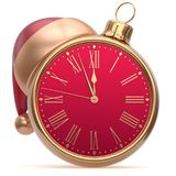 Christmas ball New Year`s Eve alarm clock bauble decoration Royalty Free Stock Photography