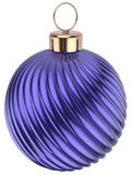 Christmas ball New Years Eve bauble decoration blue purple Royalty Free Stock Photography