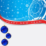 Christmas ball on newyear card Stock Photography