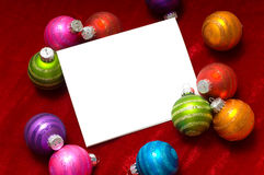Christmas ball Note-Card Royalty Free Stock Photos