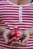 Christmas ball offer Royalty Free Stock Photos