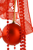 Christmas Ball On A White Background Stock Images