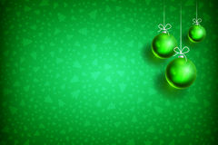 Christmas ball ornament background-03. Merry Christmas and Happy New Year green background with green Christmas Ball. Christmas related ornaments objects on Stock Photography