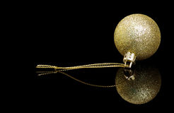 Christmas ball ornament on black Stock Images