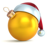 Christmas ball ornament New Year bauble decoration gold Stock Image