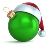 Christmas ball ornament New Year bauble decoration green Royalty Free Stock Photo
