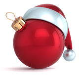 Christmas ball ornament New Year bauble decoration red Stock Photography