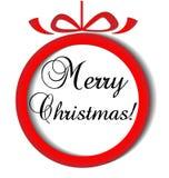 Christmas ball ornament vector icon. Design illustration Royalty Free Stock Photo