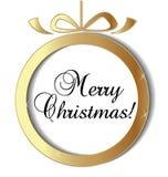 Christmas ball ornament vector icon. Design illustration Stock Photos