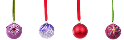 Christmas ball ornaments Royalty Free Stock Images