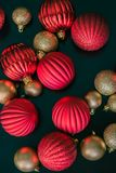 Christmas ball ornaments from above Royalty Free Stock Photo