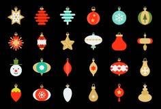 Free Christmas Ball Ornaments Icon Set 1, Flat Design Royalty Free Stock Image - 129978756