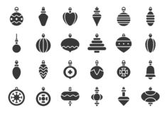 Free Christmas Ball Ornaments Icon Set 2, Solid Design Stock Image - 129978761