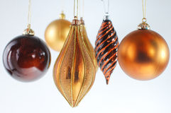 Christmas ball ornaments on white background Royalty Free Stock Images