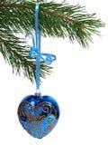Christmas Ball Over White Stock Photo