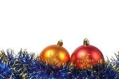 Christmas ball over white Stock Photography