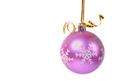 Christmas ball over white Royalty Free Stock Photography