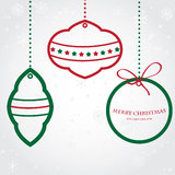 Christmas ball on paper background. Holiday card Stock Photo