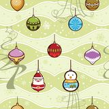 Christmas Ball Pattern SEAMLESS Royalty Free Stock Photos