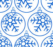 Christmas ball pattern Stock Images