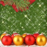 Christmas ball with pine branches Stock Photos