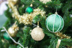 Christmas ball on the pine tree Royalty Free Stock Photos