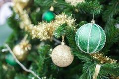Christmas ball on the pine tree Royalty Free Stock Photos