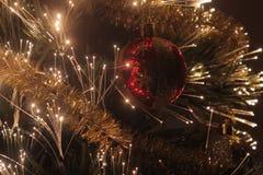 Christmas ball on the pinetree. Stock Image
