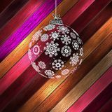 Christmas ball with place for your text. EPS 10 Royalty Free Stock Photos