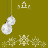 Christmas ball, postcard,  Christmas Greeting card Royalty Free Stock Photos