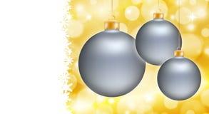 Christmas ball poster card Royalty Free Stock Photography
