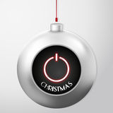 Christmas Ball with Power Button Stock Photo