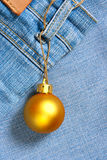 Christmas ball - price tag Stock Image