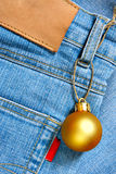 Christmas ball - price tag Royalty Free Stock Photography