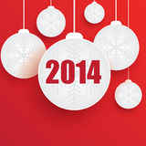 Christmas ball. On red background Stock Images
