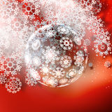 Christmas ball on red background. Stock Photos