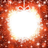 Christmas ball on red background. Royalty Free Stock Photo