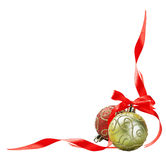 Christmas ball with red bow Stock Image