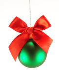 Christmas ball with red bow Royalty Free Stock Photos