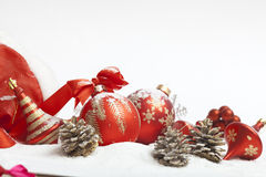 Christmas ball with red bow Stock Images