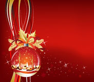 Christmas Ball in red color Royalty Free Stock Image