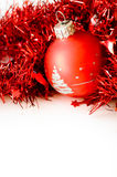 Christmas ball in red decoration Stock Photo