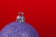 Christmas Ball on Red Stock Photo