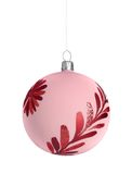Christmas ball. Red christmas ball isolated on white background Stock Images