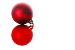 Christmas ball with reflection isolated on white Royalty Free Stock Photo
