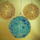 Christmas ball with a retro effect Stock Photography