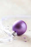 Christmas ball with ribbon Royalty Free Stock Photography